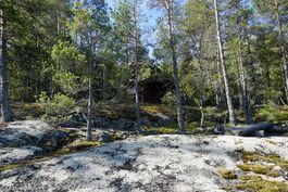 Pohjoispuolen maasto on kallioista ja metsäistä, luonnonmukaista maa-alaa