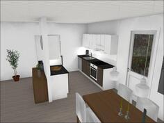Asunto 10:n keittiönäkymää