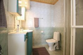 Päämakuuhuoneen yhteydessä wc ja suihku