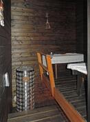 Tunnelmallinen tumma sauna, kiuas uusittu 2014