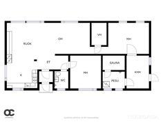 Uudemman talon pohjapiirrustus
