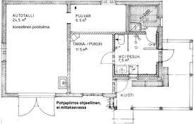 Piharakennus jossa saunaosasto ja autotalli