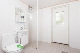 Pesuhuoneesta myös kulku terassille
