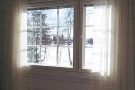 Vierashuoneen ikkunamaisemaa