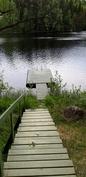 Saunasta rappuset järveen