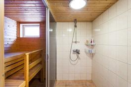 Kellarin pesuhuone ja sauna