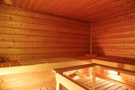 saunassa on tilaa koko perheelle