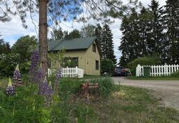 Talo tieltä kuvattuna
