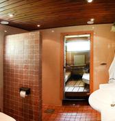 Pesuhuone piharakennuksessa