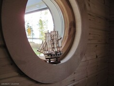 Saunan ikkuna kuistille