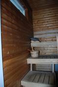 Sauna, huom. avattava ikkuna