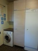 pesukone ja kuivauskaappi