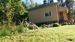Talo ja puutarha kesällä 2017