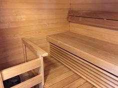 Uutta vastaava sauna.