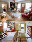 Yläkerrassa on reilun kokoinen aulatila, josta käynti makuuhuoneisiin ja parvekkeelle.