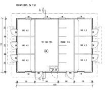 Varastorakennuksen pohjakuva