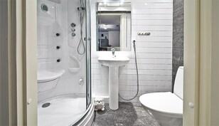 Alakerran wc ja höyrysuihkukaappi