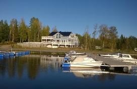 Luodonjärven suunnasta ravintola ja huoltorakennus