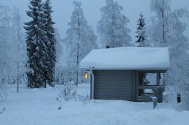 Ulkosauna talvella