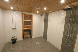 Taloyhtiön saunan pesuhuone
