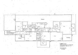 Rakennuksen pohjapiirustus 2 krs