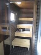 uudistetut pesuhuone ja sauna