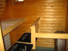 sauna, hirsipaneelipinnat+ harvia kiuas