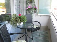 Valoisalla ja tilavalla parvekkeella on myös kukille otolliset kasvu-olosuhteet.