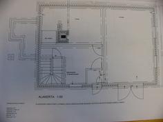 Päärakennuksen  alakerran pohjakuva