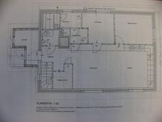 Päärakennuksen yläkerran pohjakuva