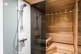 Valitse mieluinen sauna.