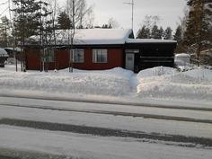 Näkymä itäiselle seinustalle autotien yli talvella