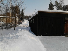 Näkymä pohjoispäätyyn talvella