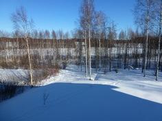 Talvinäkymiä yläkerran terassilta