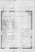 Alakerta rakennusluvan piirustuksista. Bottenvåningens ritningar (byggnadslov)