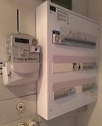 Kodinhoitohuoneessa juuri uusittu sähkökeskus
