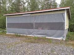 Valmis katosvarasto Lantala, EU mukainen lantala johon sähköjohdotus tehty.