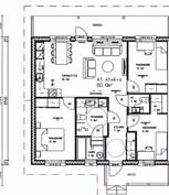 80 m² neliö (3mh)