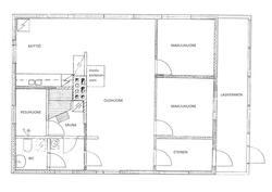 Asuinrakennuksen pohjapiirustus
