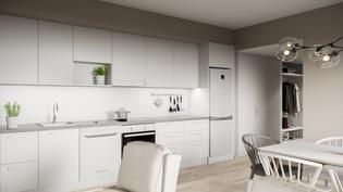 Visualisointikuva keittiöstä