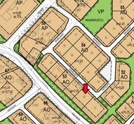 Kaavakartta, Saumaajantie 17, merkitty punaisella nuolella