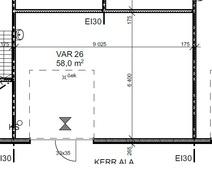 58,0 m²