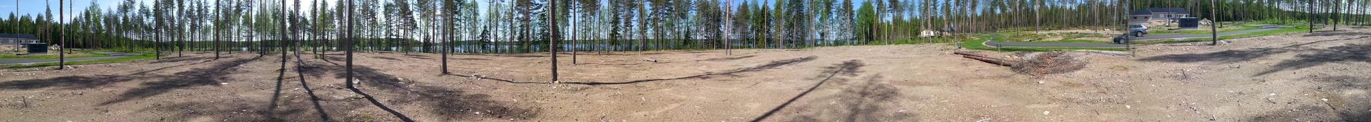 Panoraama kuvaa korttelista 534
