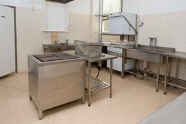 Kuva hallirakennuksen keittiöstä
