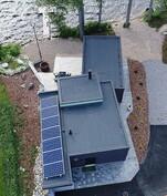 Drone ilmakuva taloyhtiön saunasta